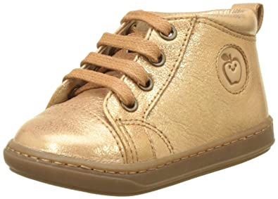 34efc7d2fe01 Shoo Pom Baby Girls  Bouba Pad Lace First Walking Shoes Gold Size  3UK Child