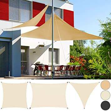 Sonnensegel Sonnenschutz Sichtschutz Windschutz Beschattung Terrasse Garten HD