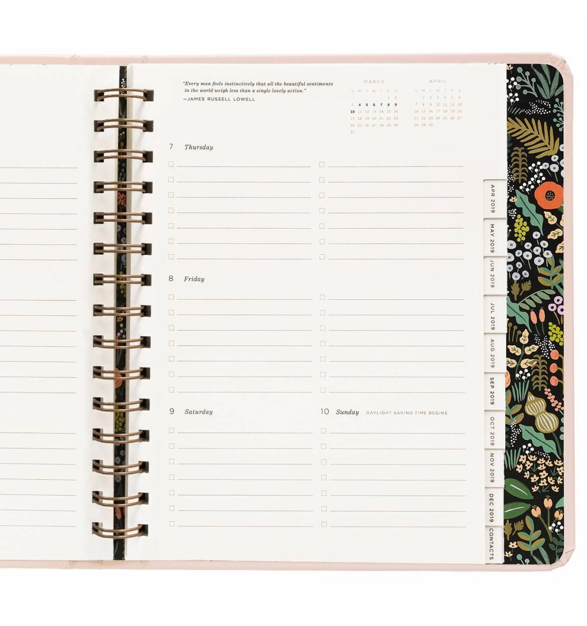 Ramo planificador semanal de 17 meses con pegatinas - August ...