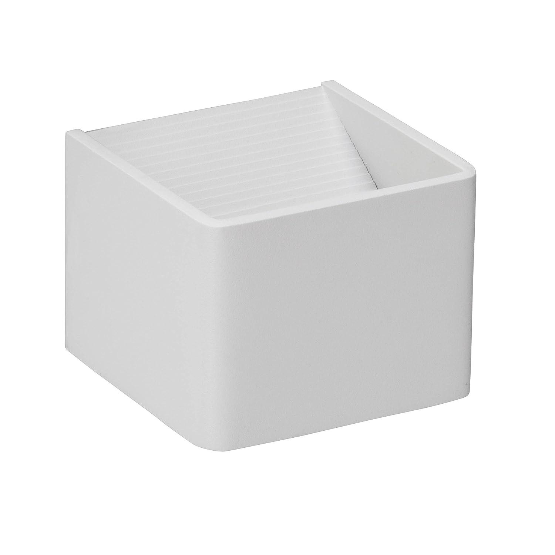 10 x 10 x 7 cm 5 W Aluminium Brilliant G94336//05 Applique//plafonnier Blanc