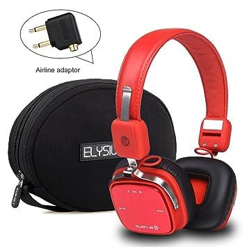 yenona Bluetooth inalámbrico Reducción de ruido de auriculares, & batería, inferior Bass Bluetooth Headset