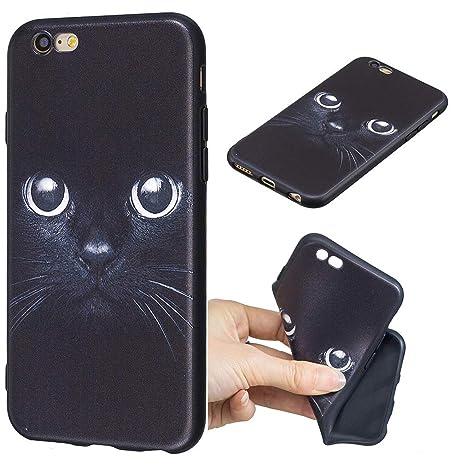 Rongecr Funda Negro Compatible con iPhone 6/ iPhone 6s Carcasa Gel TPU Silicona Case Cover Moda de Ciencia Ficción Funda Ultra Fino Flexible para ...
