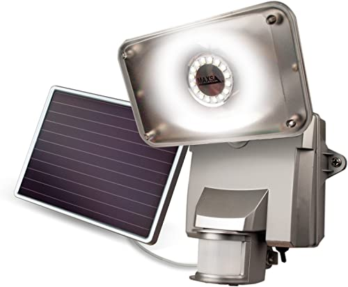 MAXSA Innovations 44640 Off-White Solar Motion-Activated Security Light
