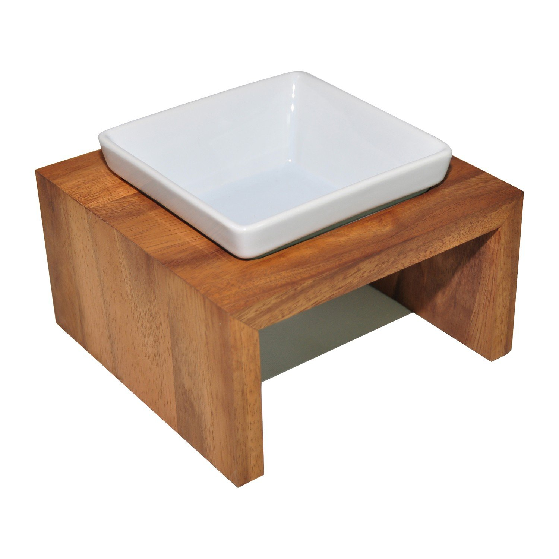 1 x 2.1 L Wolters Meshidai True Feeding Station Dog Bowl Real Wood