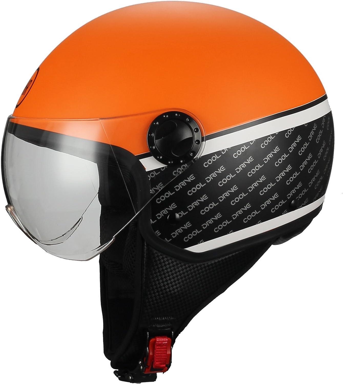 M BHR 72300 Motorrad Helm Demi-Jet Line One 801 Tarnung Gr/ün
