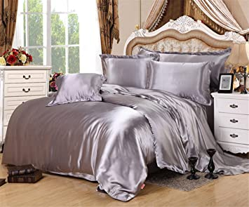 Shamdon Home Collection Glanz Satin Bettbezug Bettwäsche Set