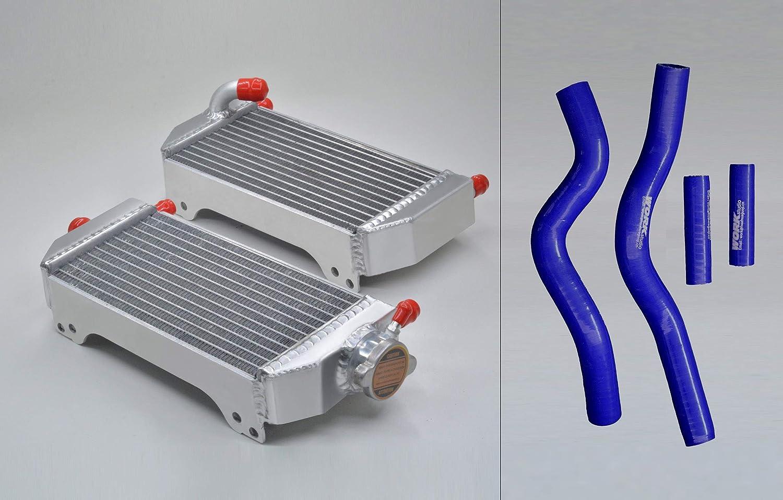 Aluminum Alloy Radiator Suzuki RM250 2001-2008 2003 2004 2005 2006 2007 a kit /& Bule Hose