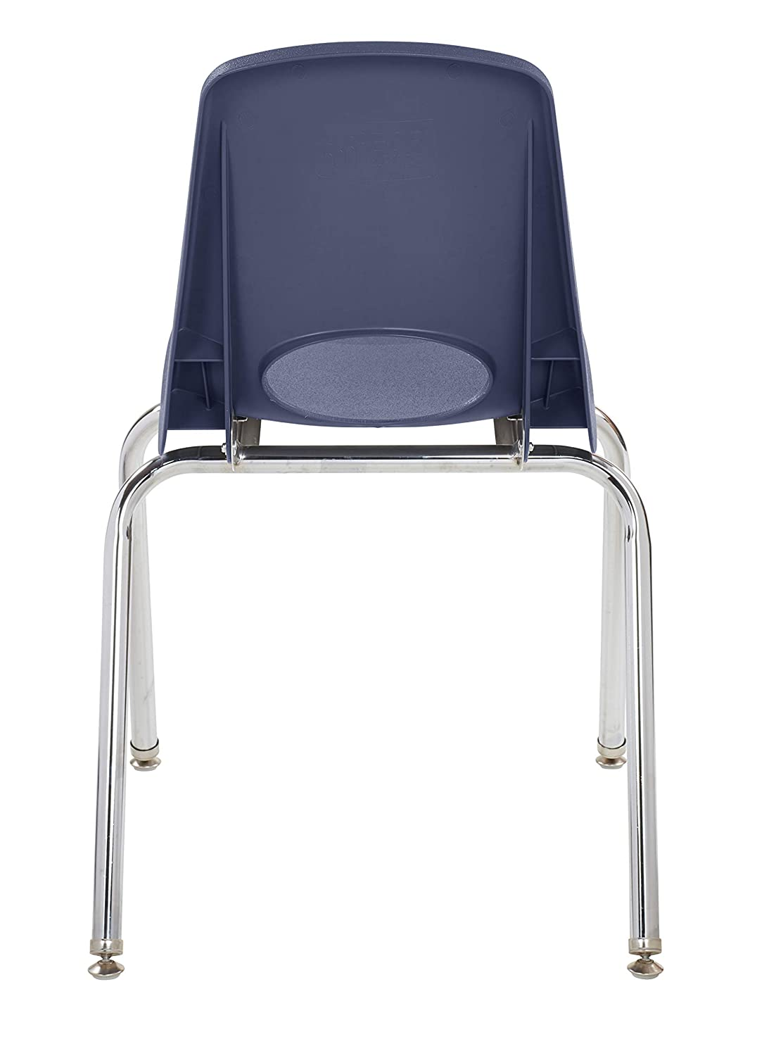 Sand 5-Pack 18 School Stack Chair,/Stacking Student Chairs with Chromed Steel Legs and Nylon Swivel Glides
