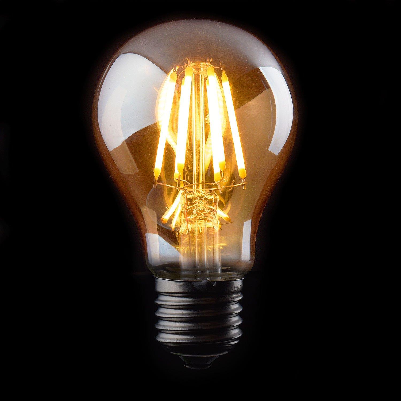 Vintage Thomas Edison LED Light Bulb, Dimmable 6W Antique LED Globe ... for Incandescent Light Bulb Thomas Edison  55dqh