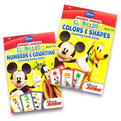 Mickey Mouse Clubhouse Learning Card Games Bundle - Numbers + Counting & Colors + Shapes: Toys & Games