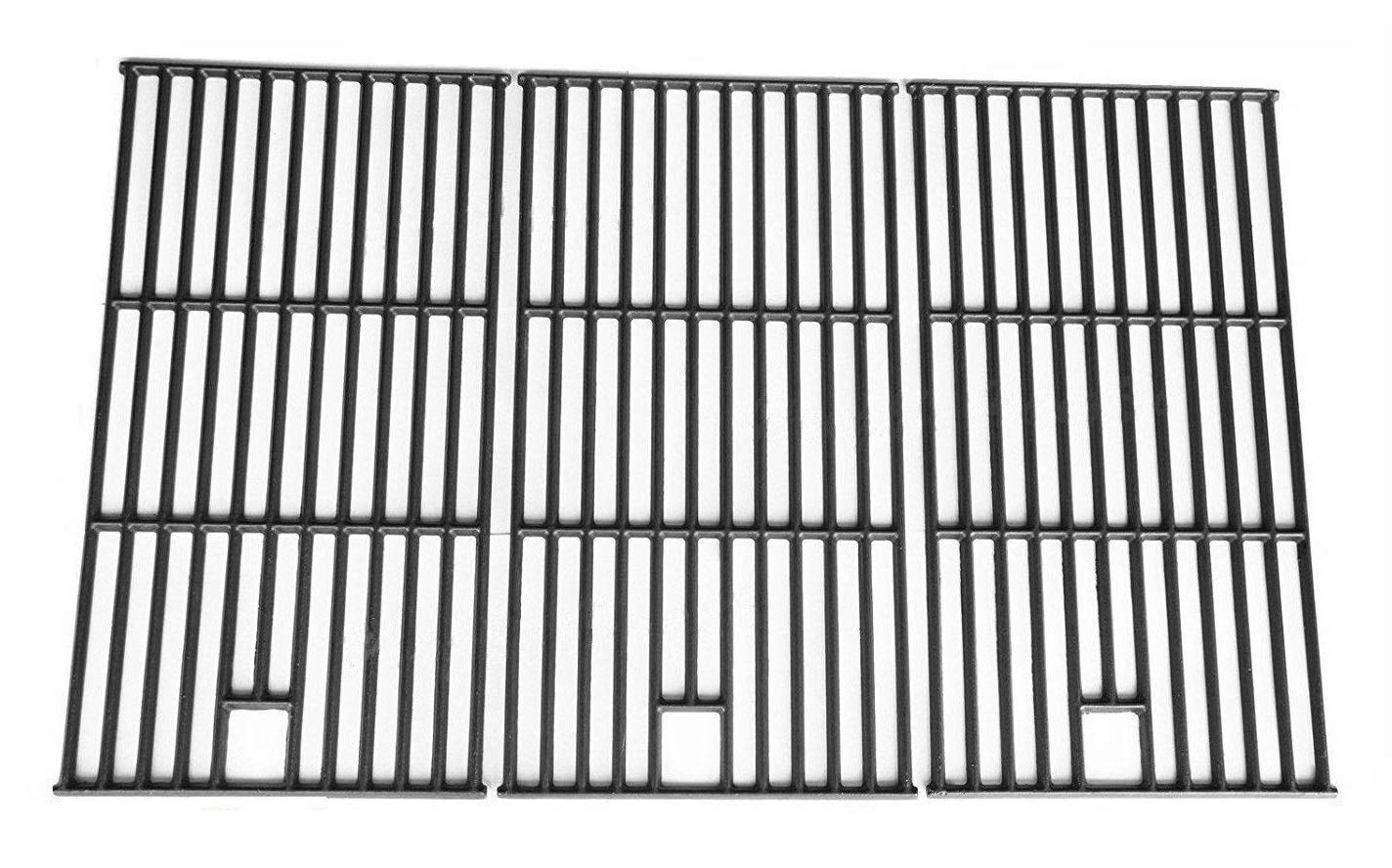 Hongso PCE223 Matte Cast Iron Cooking Grid Replacement for Brinkmann 810-8500-S, 810-8501-S, 810-8502-S; Charmglow 720-0396, 720-0536 and Others, Set of 3