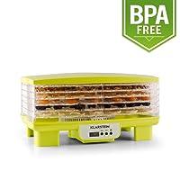 Klarstein Bananarama Dörrgerät Früchte Trockner Dehydrator 400W 4 Etagen Dörrautomat mit timer temperatur