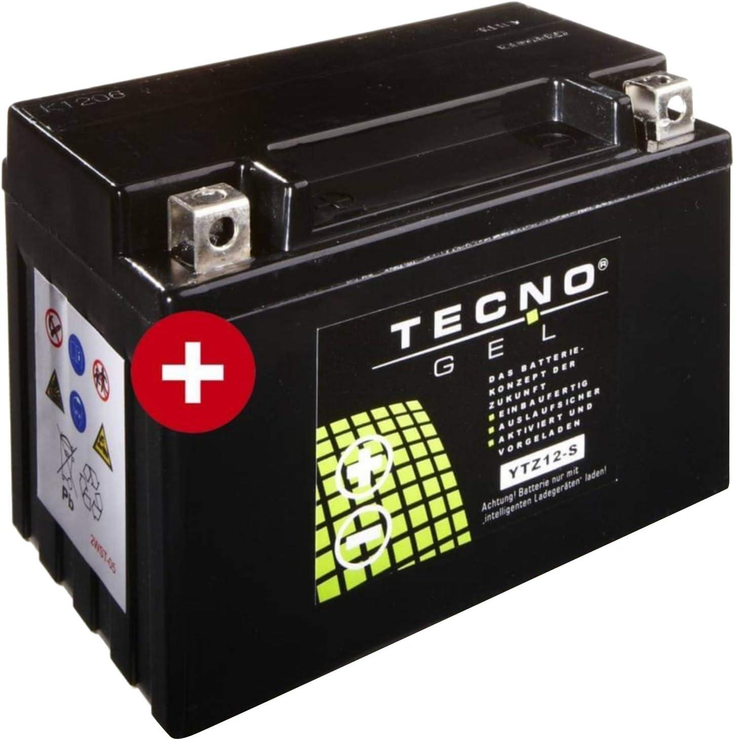 /2010/de Tecno Gel Bater/ía YTZ12S Honda VFR 800/2002/