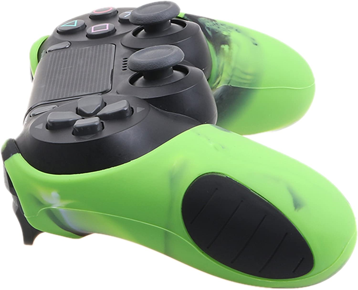 blue+green With Pro thumb grips x 8 YoRHa Studded Silicone Cover Skin Case for Sony PS4//slim//Pro Dualshock 4 controller x 2