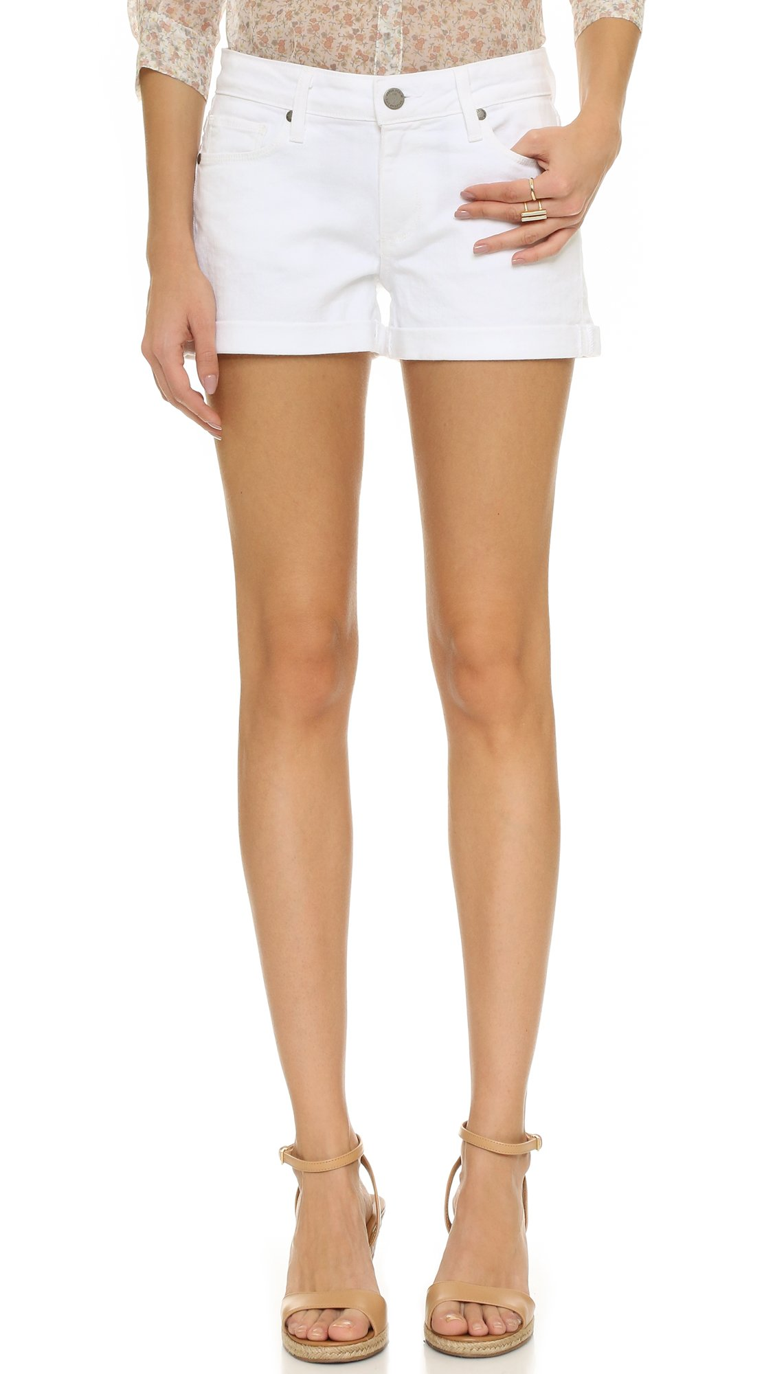 Paige Women's Jimmy Jimmy Short In Optic White, Optic White, 28