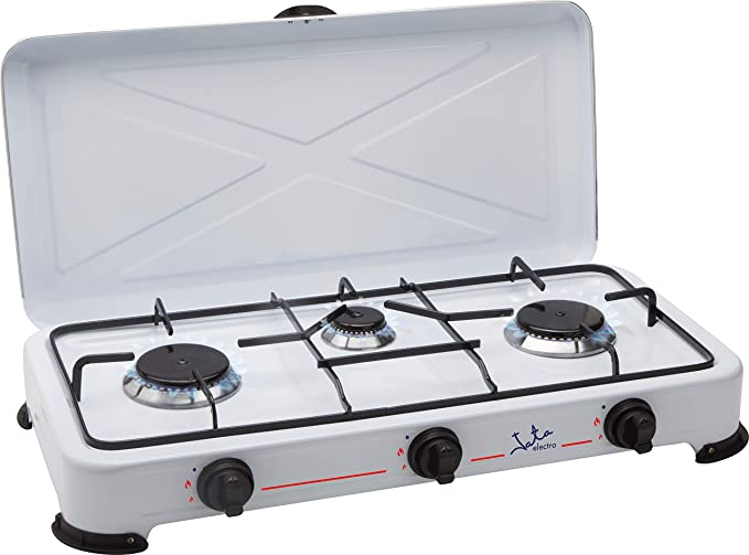 Jata cc706 Cocina de Gas, Esmaltado, Blanco