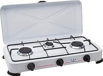 Jata CC706 Cocina de Gas para Camping con 3 Quemadores con ...