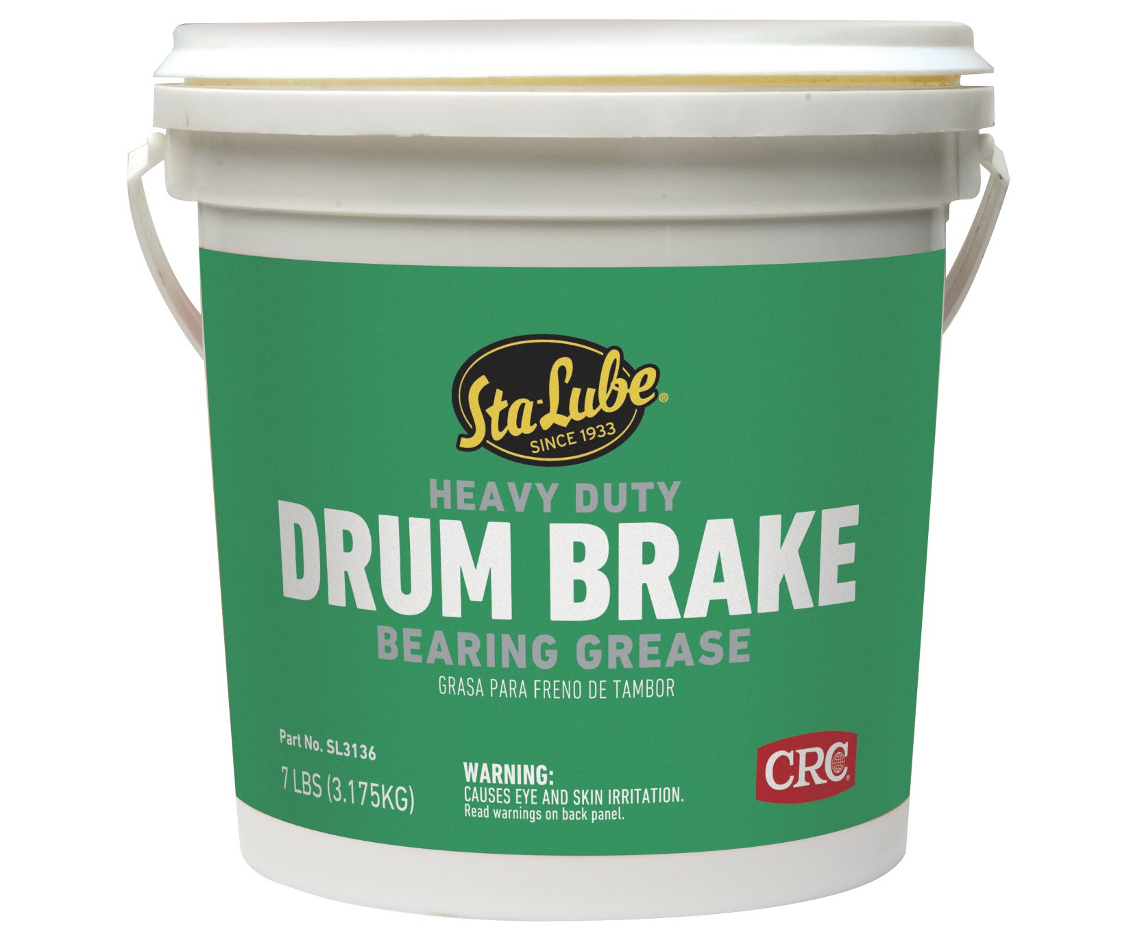 Sta-Lube SL3136 Heavy Duty Drum Brake Wheel Bearing Grease, 7 lbs. by Sta-Lube