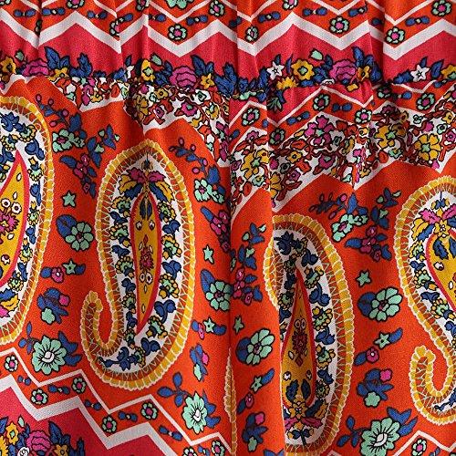 LHWY Femmes imprimé floral dentelle taille haute Short Summer Casual Pantalon court