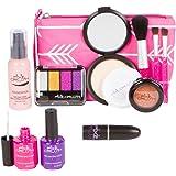 PixieCrush Pretend Play Makeup Kit. Designer Girls Arrow Bag Beauty Basics Set