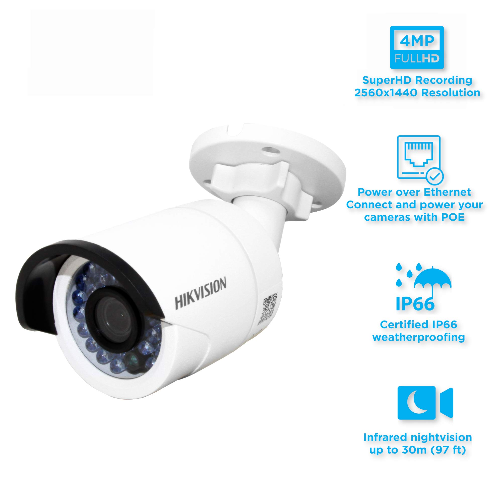 HIKVISION 4MP IP Camera DS-2CD2042WD-I Full HD 4MP IP Camera High Resoultion WDR POE Bullet CCTV Camera