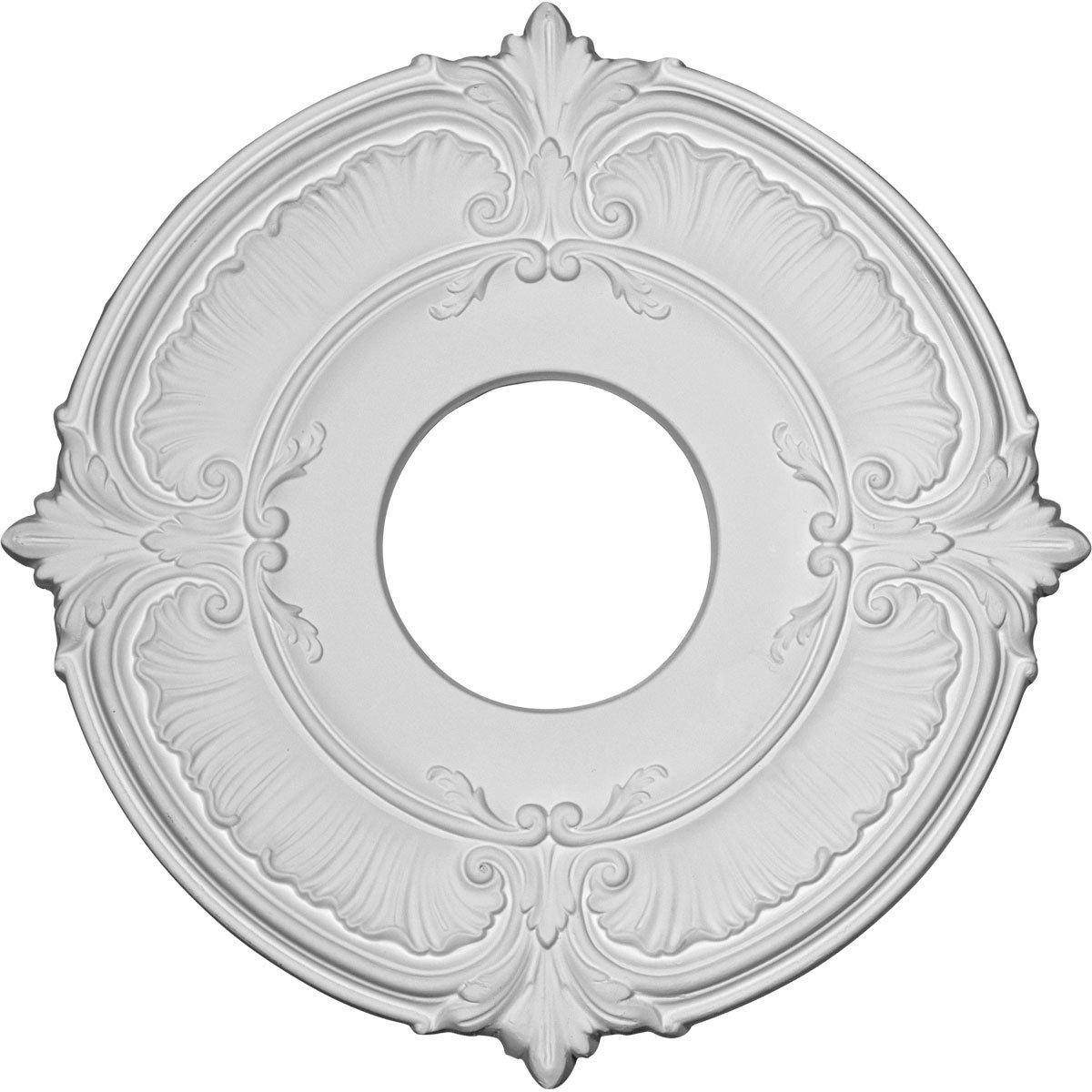 Ekena Millwork CM12AT 11 3/4-Inch OD x 4-Inch ID x 1/2-Inch Attica Ceiling Medallion