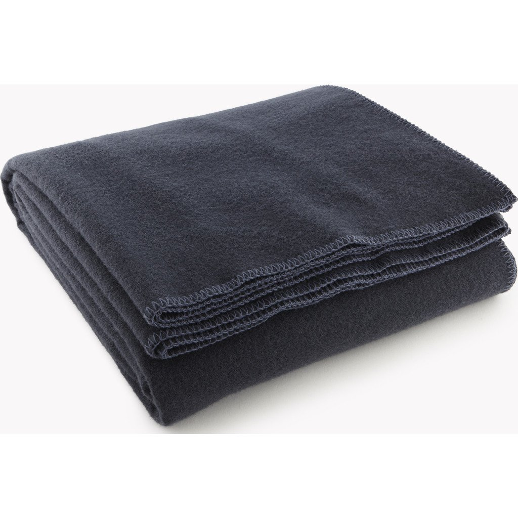Faribault Pure & Simple Wool Blanket - India Ink - King