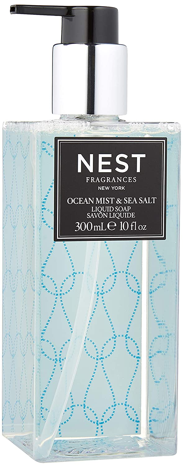 NEST Fragrances Scented Liquid Hand Soap- Ocean Mist & Sea Salt , 10 fl oz