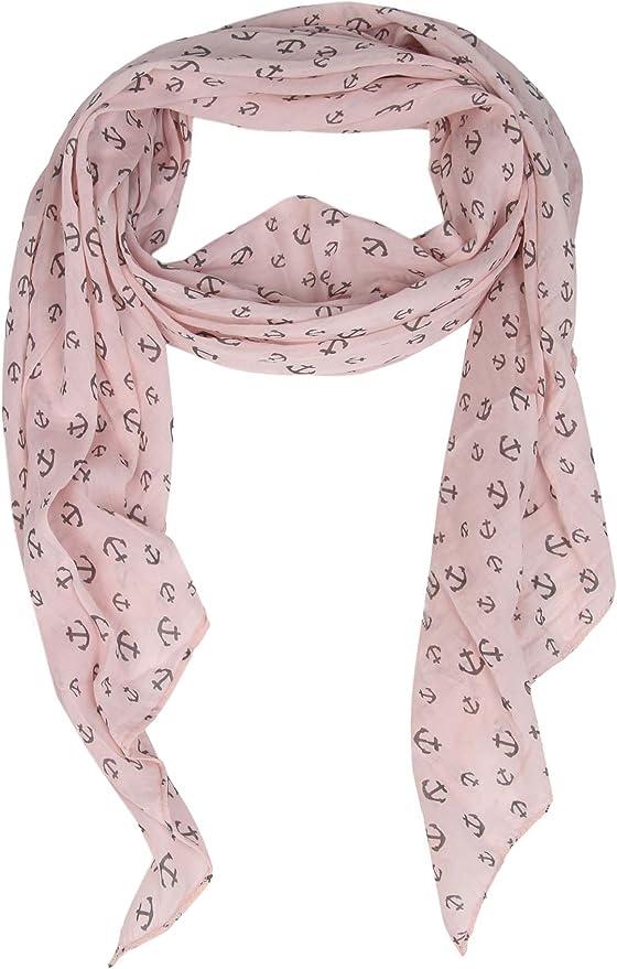Cashmere Dreams - Pañuelo de seda con diseño de ancla, bufanda de alta calidad para mujer y niña, bufanda suave para primavera, verano, otoño e invierno