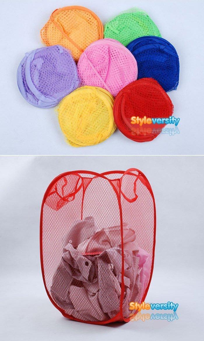 Wäschekorb, faltbar, Netzstoff, zur ordentlichen Aufbewahrung von Spielzeug Originalverpackung Wä schekorb Premier Housewares