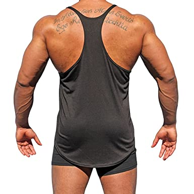 d2f40770 diandianshop Men's Sport T-Shirt Surf Beach Swimming Fitness Tank Slim Fit  Muscle Shirt Tops