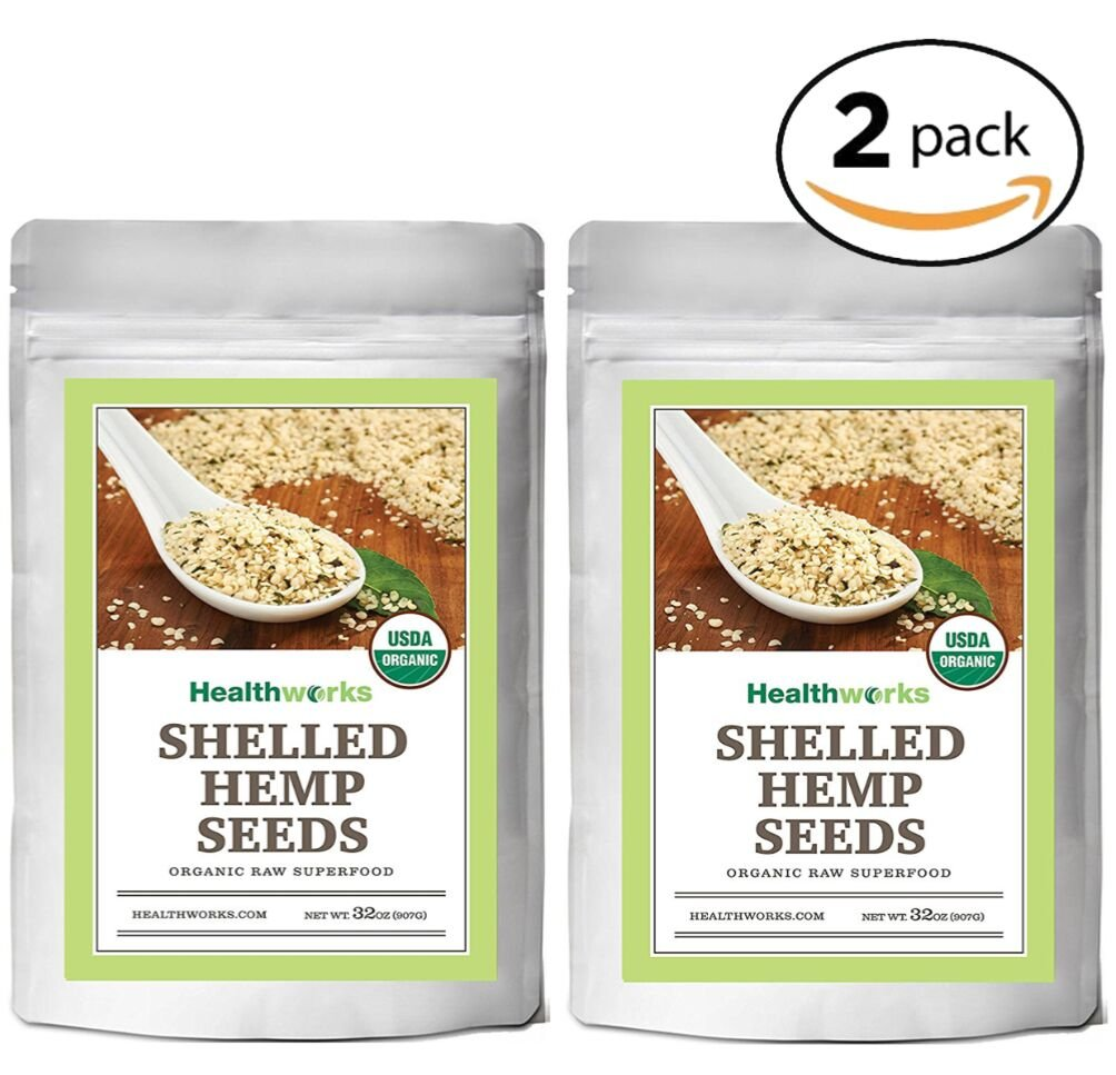 Healthworks Organic Shelled Hemp Seeds 4lb(2 2lb Packs)