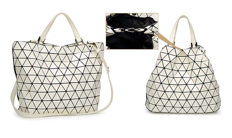 Geometrie Eimer Eimer Eimer Taschen Pailletten Spiegel Plain Folding Umhängetasche Tote Handtaschen Small Weiß B07N1HC47J Umhngetaschen Obermaterial 2e6068