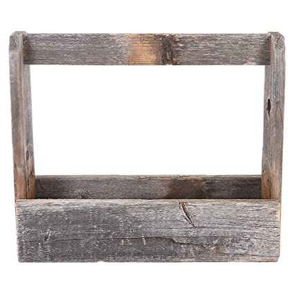 Amazoncom Old Wooden Tool Box Barnwood Tote And Tool Caddy By