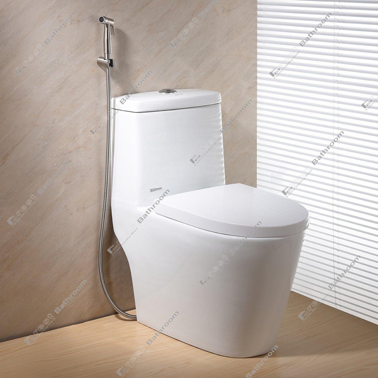 Ownace Nickel bross/é en acier inoxydable /à la main Held Bidet Pulv/érisateur Diaper Shattaf Douche Ensemble complet avec adaptateur tuyau et support pour toilettes