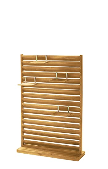 Amazon.de: Garten Sichtschutz Paravent Freistehend Holz 80 x 28 x ...
