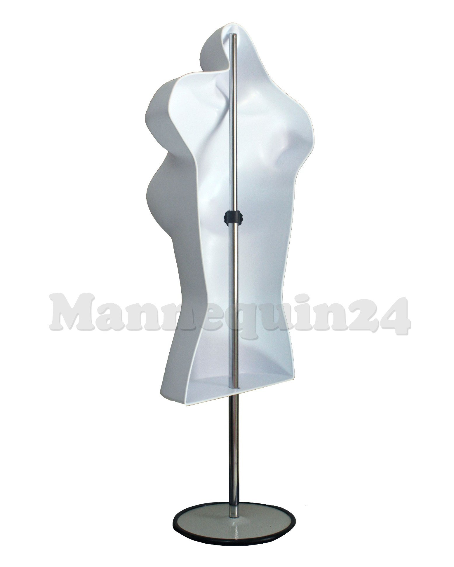 DisplayTown Mannequin Forms Male and Female Torso with Metal Stand and Hook for Hanging Pants, Waist Long, White by DisplayTown (Image #6)