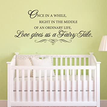 Amazon.com: Love gives us a Fairy Tale - Love Vinyl Wall Decal Baby ...