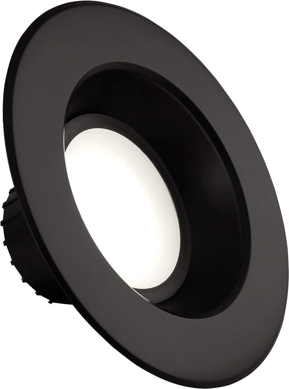 NICOR Lighting Dimmable 800-Lumen 5000K LED Recessed Downlight Retrofit Kit for 5-6-Inch Housings Renewed DLR56-3008-120-5K-BK Black Trim