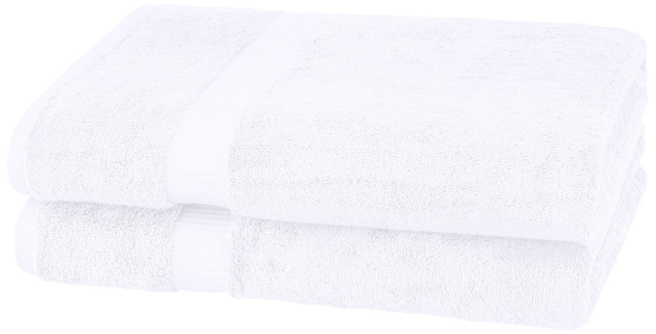 Pinzon Organic Cotton Bath Sheet (2 Pack), White