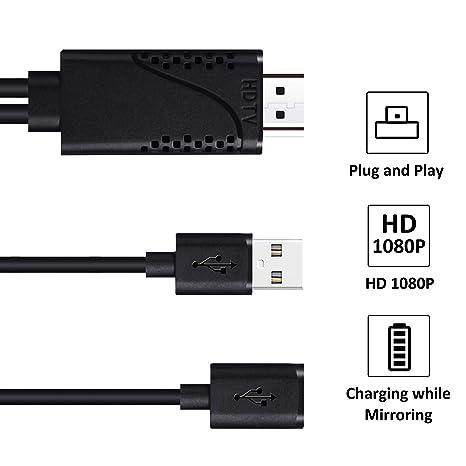 FERRISA Cable USB a HDMI, Cable Digital a HDMI Compatible con ...