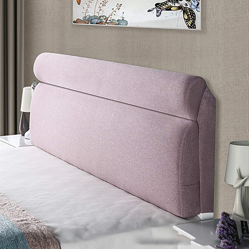 D 180CM Large Soft Upholstered Headboard Cushion Wall Pillow Lumbar Pad Bed Backrest Breathable Removable Washable (color   E, Size   200cm)