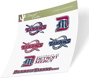 University of Detroit Mercy UDM Titans NCAA Sticker Vinyl Decal Laptop Water Bottle Car Scrapbook (Type 2 Sheet)