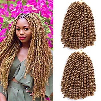 Amazoncom 1 Pack Spring Twist Crochet Braiding Hair 27 Blonde