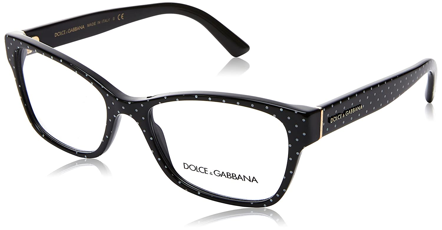 b6654c45e90 Dolce   Gabbana DG3274 Eyeglasses 3126 Black Polka Dot 54-17-140   Amazon.co.uk  Clothing