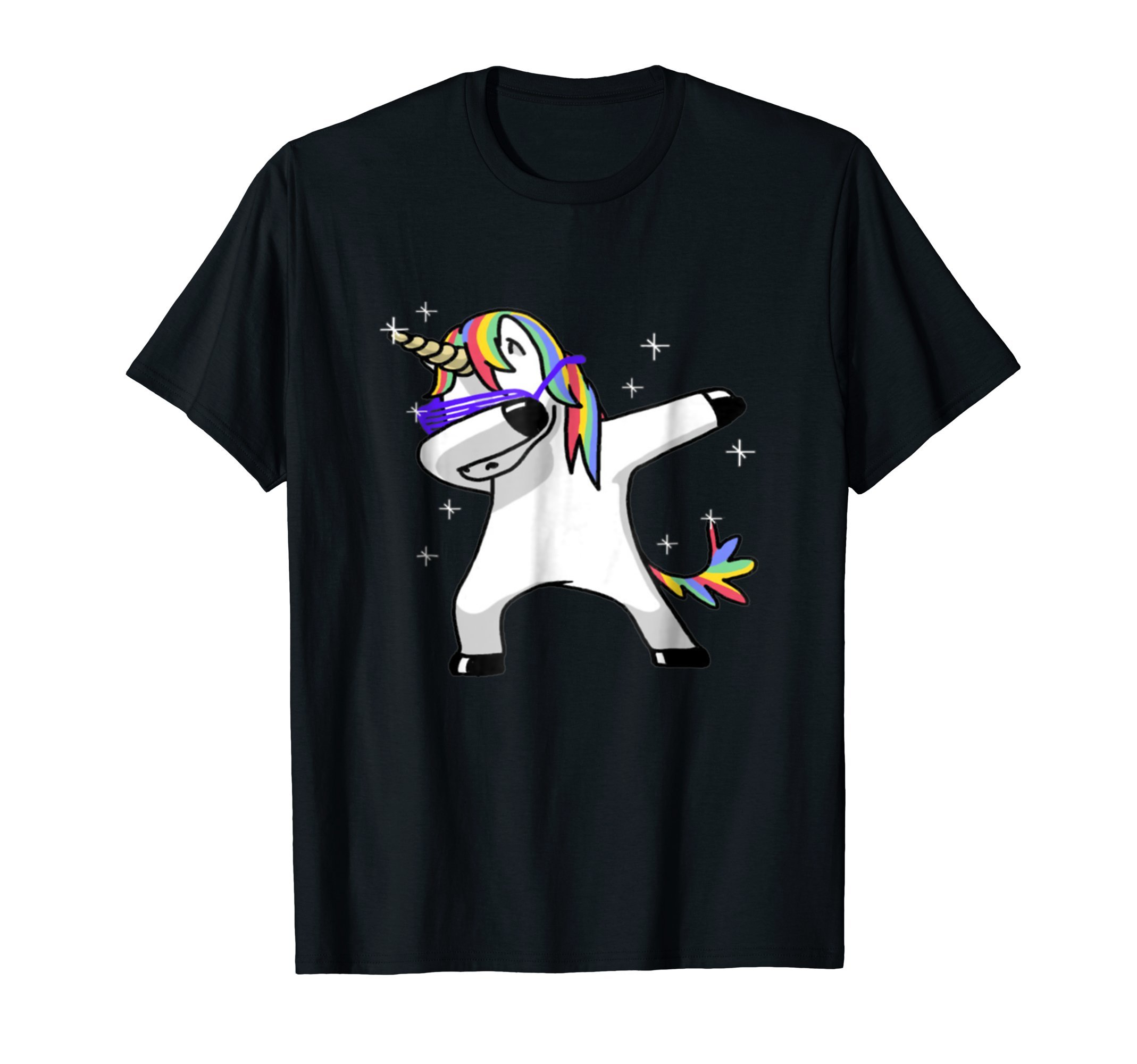 Dabbing Unicorn Sunglasses T Shirt