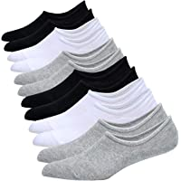 Jormatt Mens Cotton Low Cut No Show Socks With Non-Slip Grips, 6 Pairs 8 Pairs