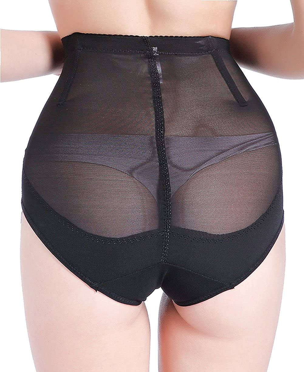 927068919ad3e Hioffer Invisable Strapless Body Shaper High Waist Tummy Control Butt  Lifter Panty Slim Underwear Shaper With Hook   Eye at Amazon Women s  Clothing store