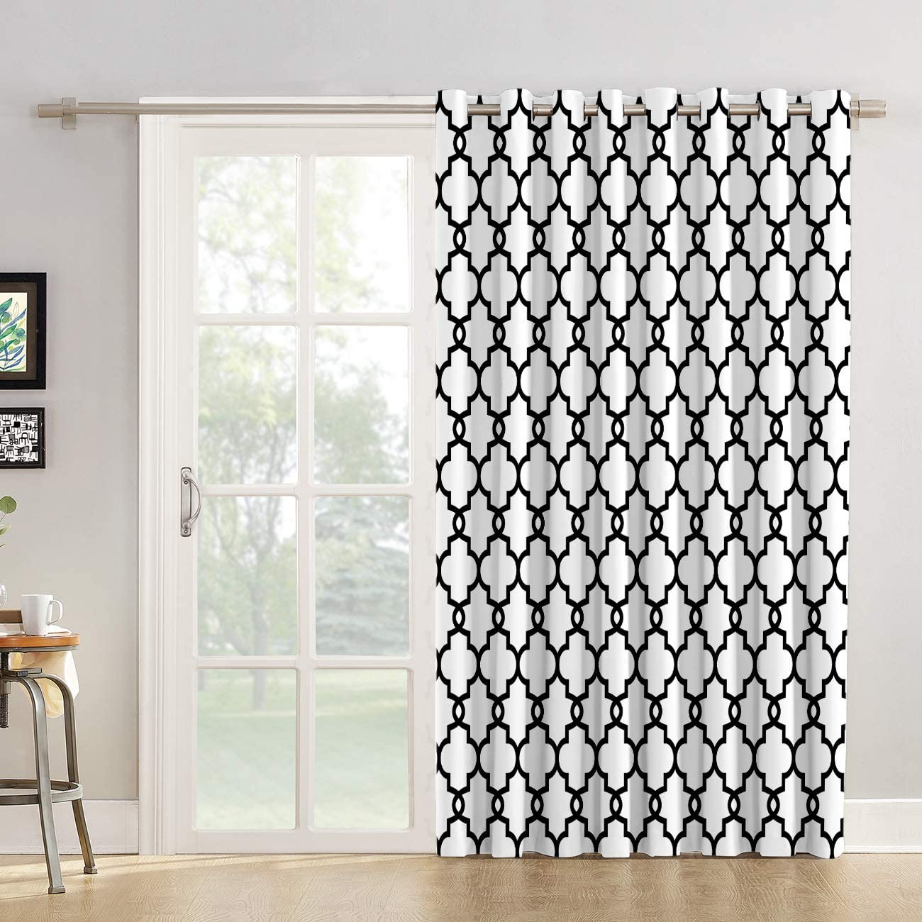 Futuregrace Blackout Curtains Moroccan Trellis Pattern Livingroom Bedroom Darkening Window Draperies Curtains for Sliding Glass Door Home Office Decor 52 W by 96 L