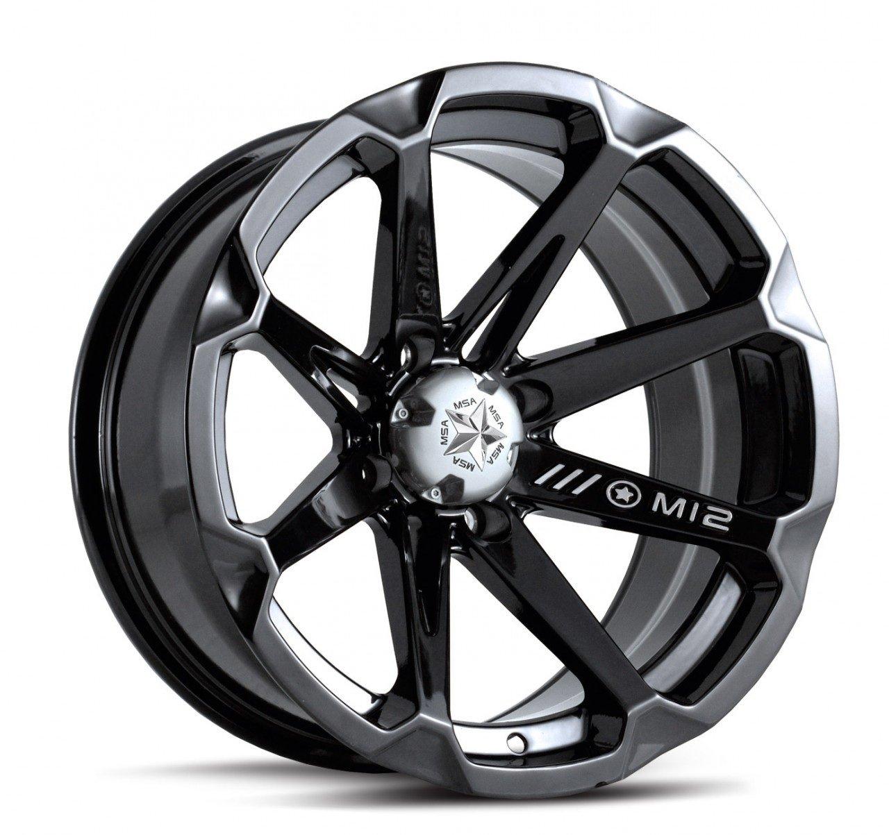 MSA Black Diesel 14 ATV Wheels 27 MotoHammer Tires 4x156 Bolt Pattern 10mmx1.25 Lug Kit 9 Items Bundle